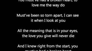 You Must Have Had A Broken Heart  (Westlife)